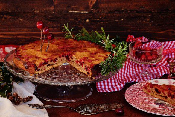 Rezept für einen Upside-Down Cranberry-Kuchen