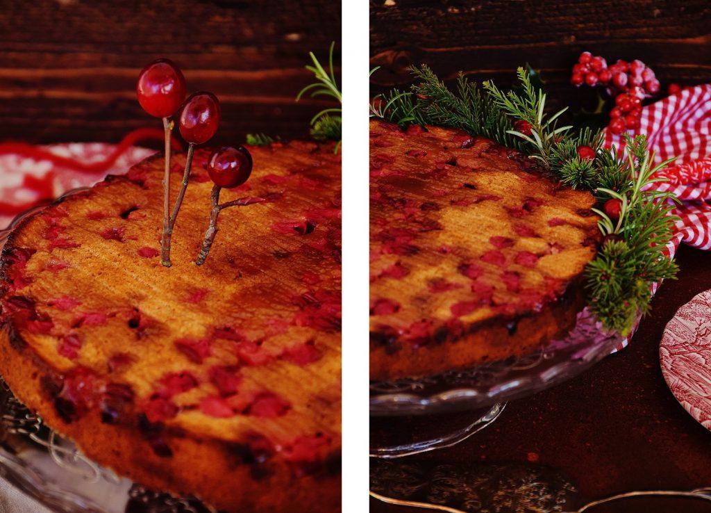Saftiger Cranberry-Kuchen (zuckerfrei und weizenfrei)