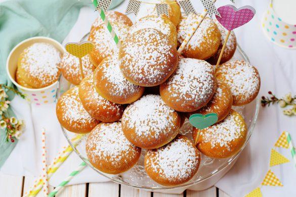 Krapfen aus dem Backofen: Gesunde, fettarme, zuckerfreie Ofenkrapfen aus Dinkelmehl