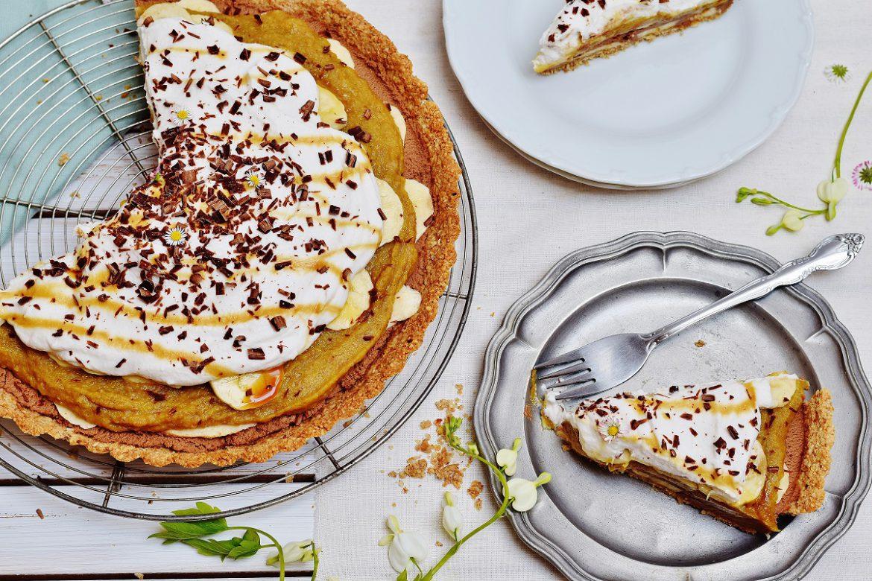 Gesunder Banoffee Pie mit Schoko