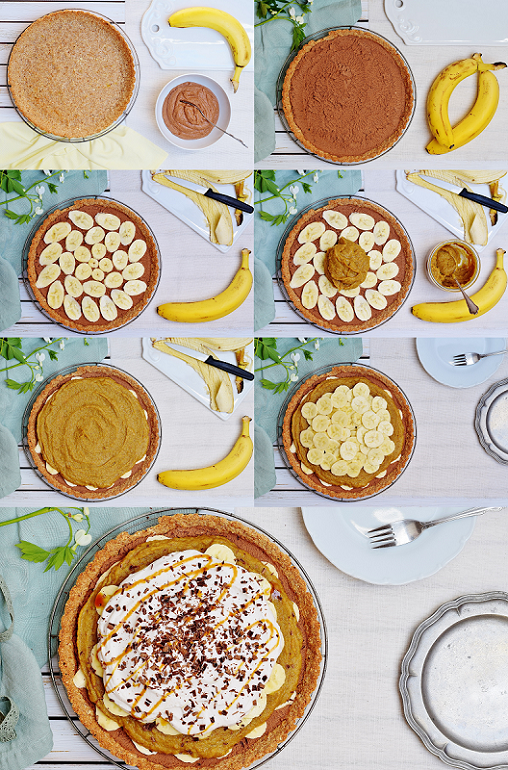Banoffee Pie mit Datteln und Schokomousse - gesund