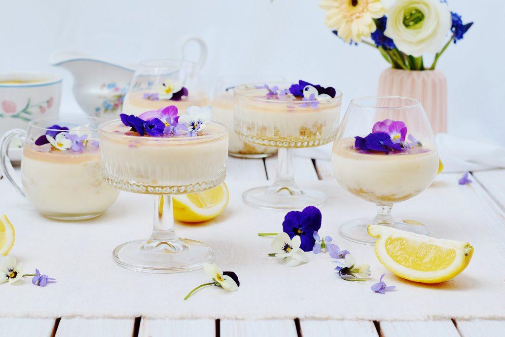 Zitronen-Panna Cotta ohne Schlagsahne