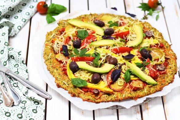 Veggie Pizza mit Zucchiniboden