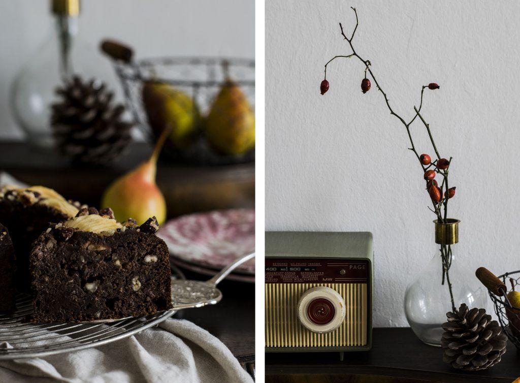 Gesunder Schoko-Birnen-Kuchen