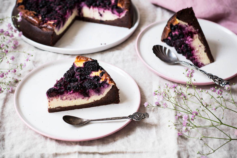 Healthy Brownie-Cheesecake - natürlich gesüßt, ohne Gluten